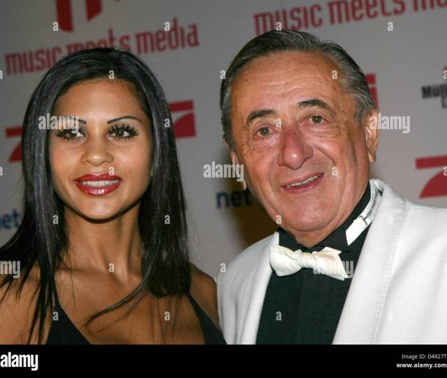 Building Contractor Richard Lugner And His Escort Nina Bambi Bruckner Arrive At The Music Meets Media Party In Berlin Germany