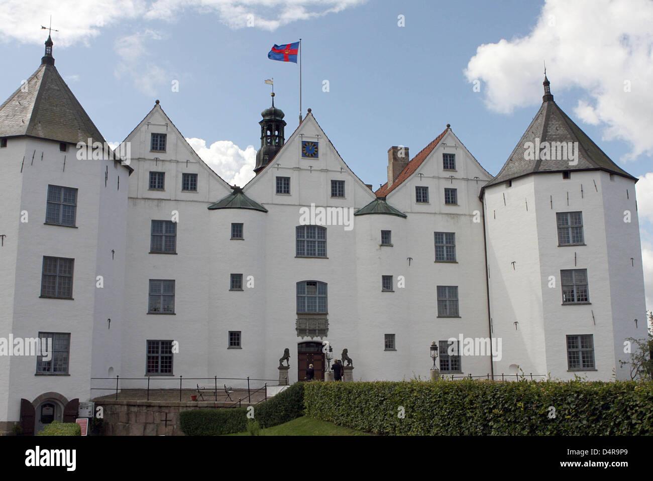 gluecksburg castle is pictured