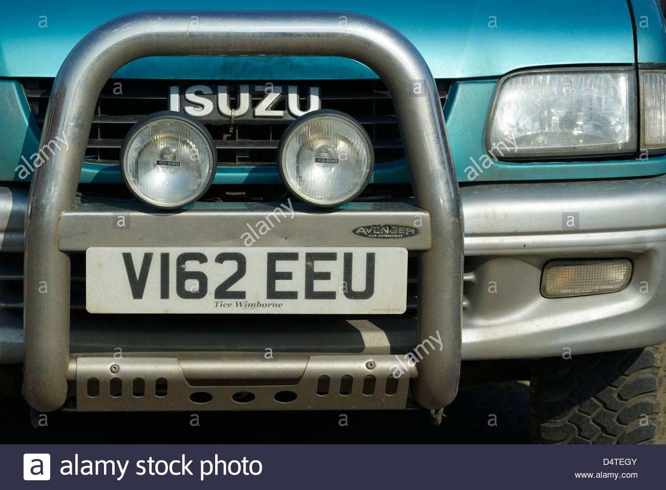 hight resolution of isuzu 4x4 front with bull bars blandford forum dorset england uk stock image