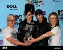 German Band Tokio Hotel Poses Call
