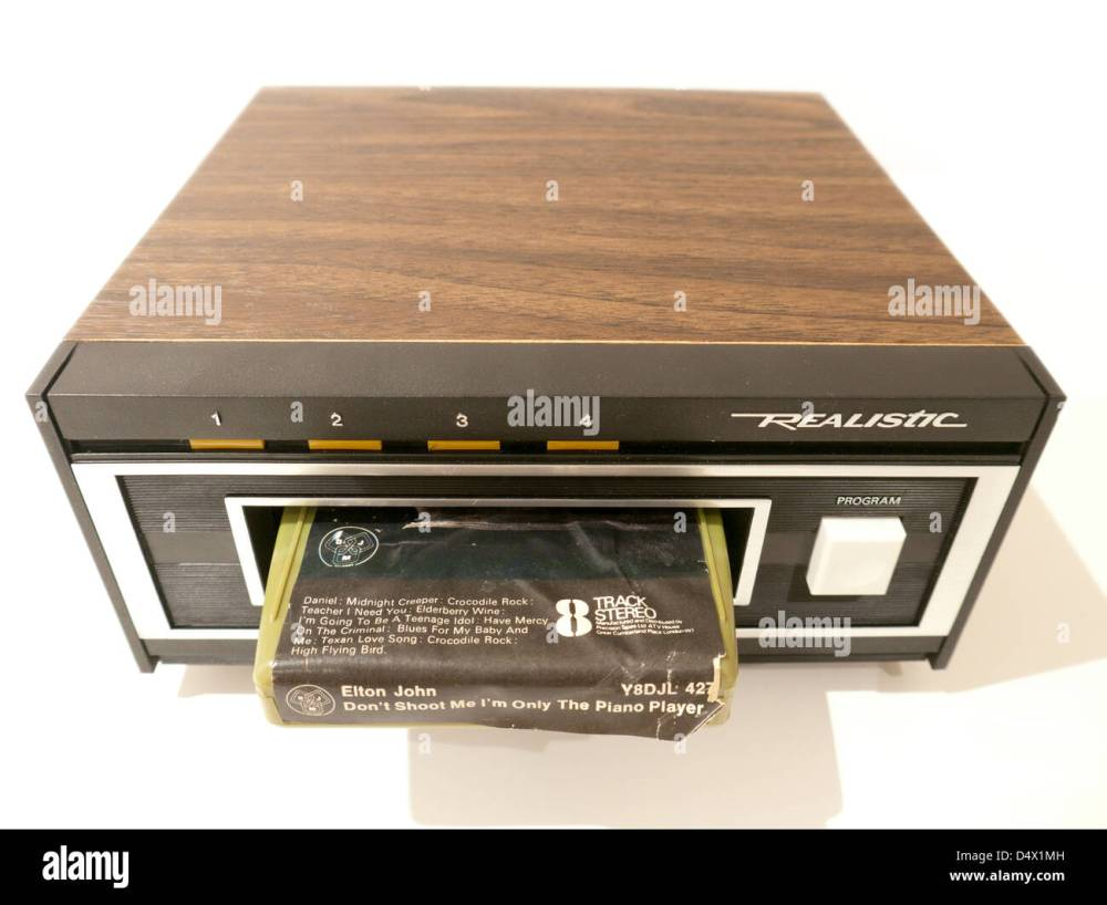 medium resolution of an old style realistic tr 169 8 track playback deck stock image