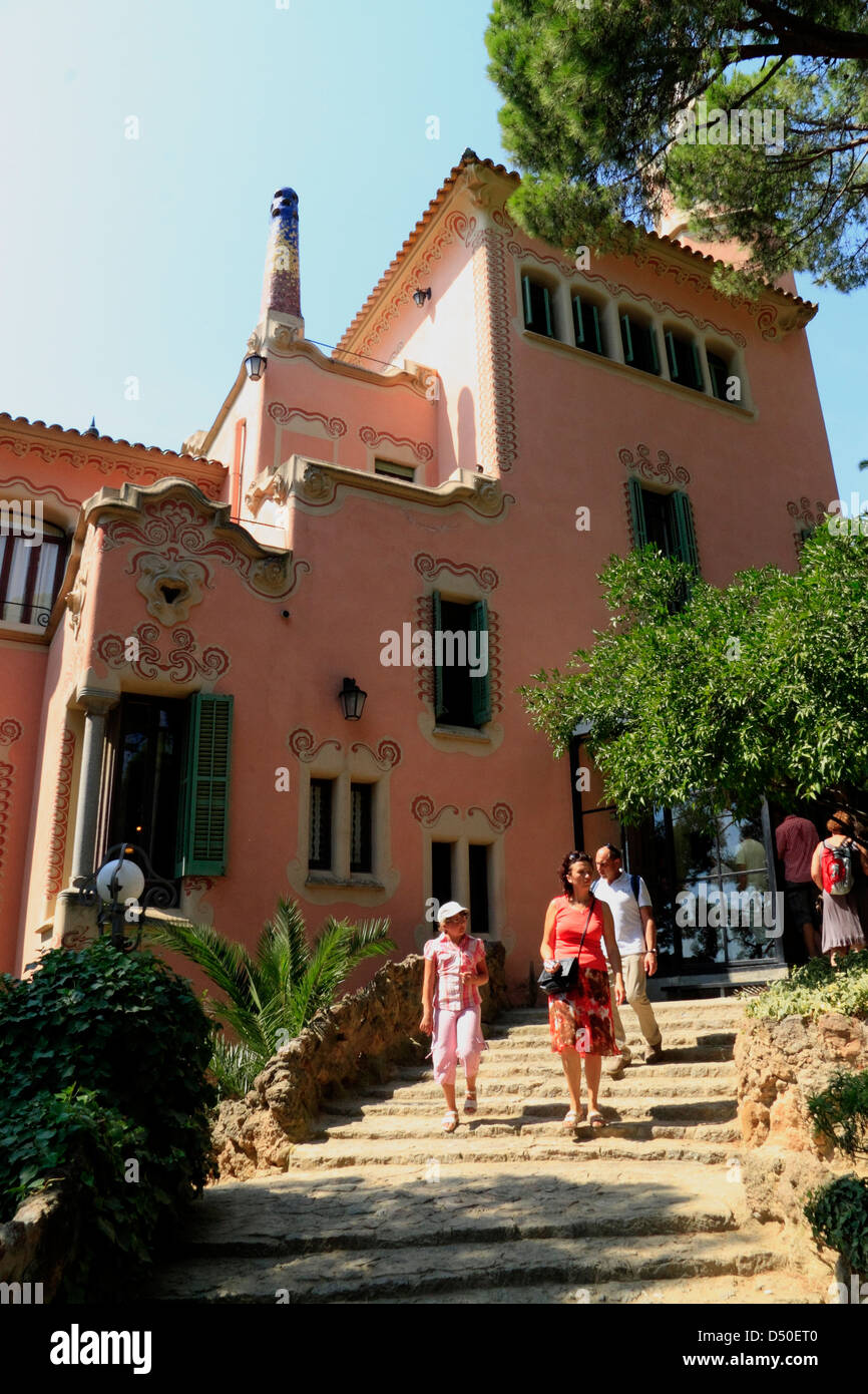 CasaMuseu Gaudi in Parc Guell Barcelona Spain Stock Photo Royalty Free Image 54716032  Alamy