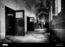 Abandoned Psychiatric Hospital Corridor Stock