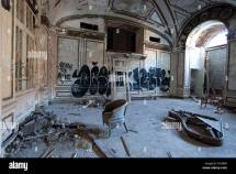 Abandoned Lee Plaza Hotel In Detroit Michigan Stock
