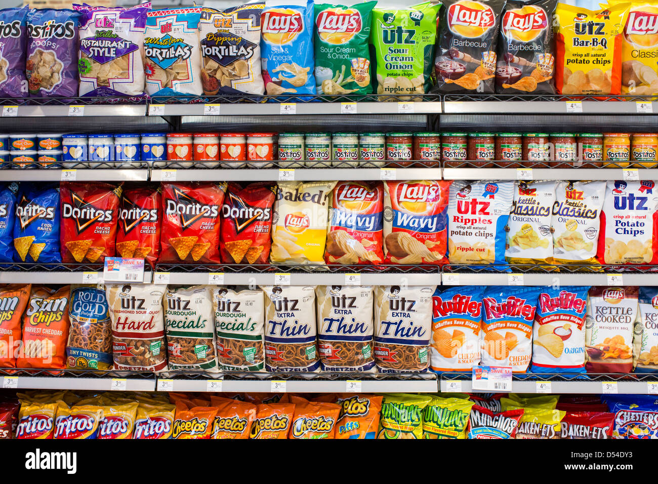 potato chips grocery stock