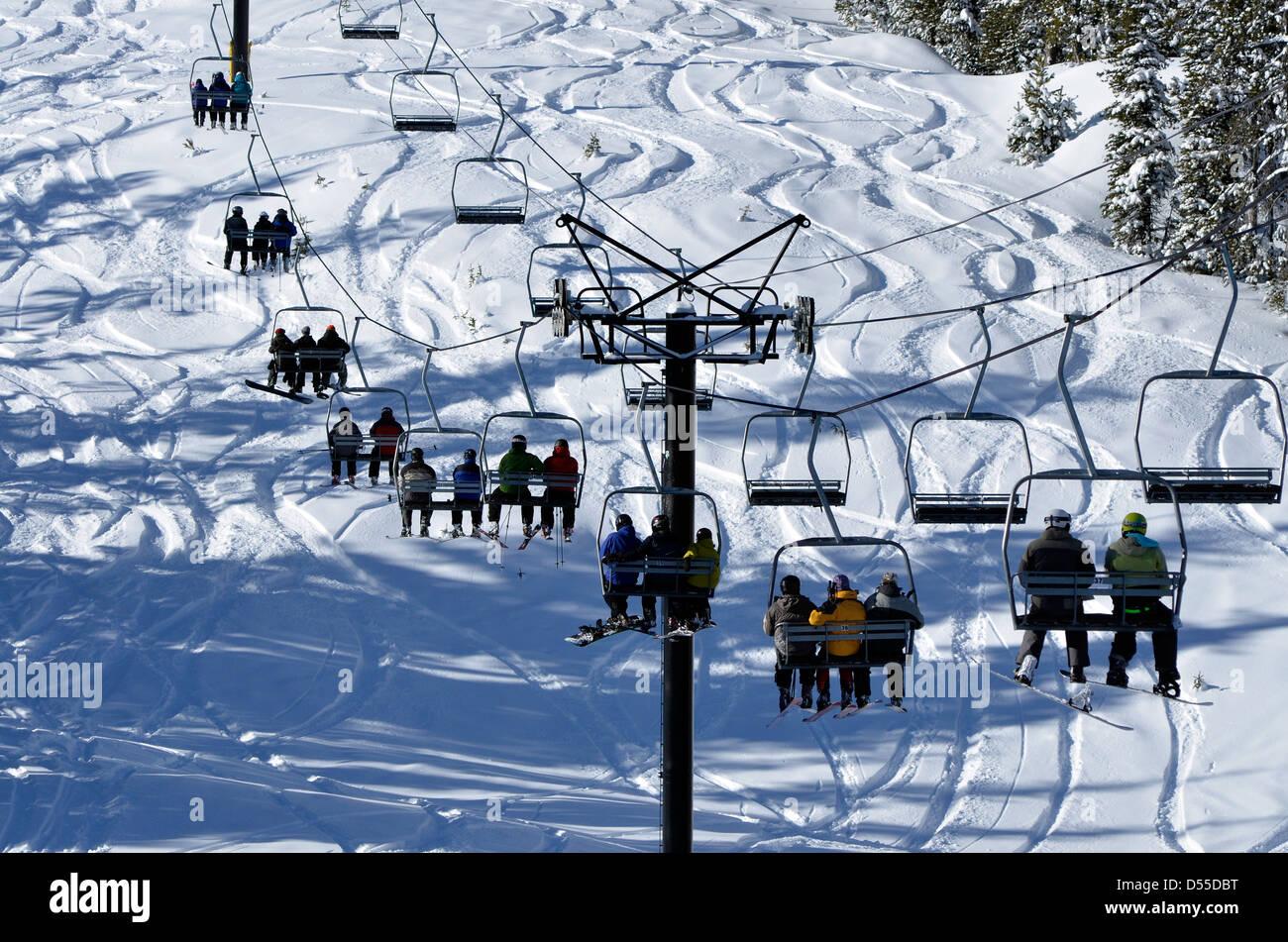 ski chair lift folding quad menards run and anthony lakes area oregon