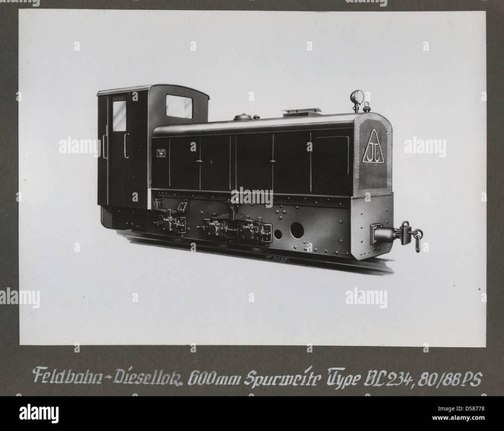 medium resolution of  feldbahn diesellokomotive type vl 234 80 88 ps