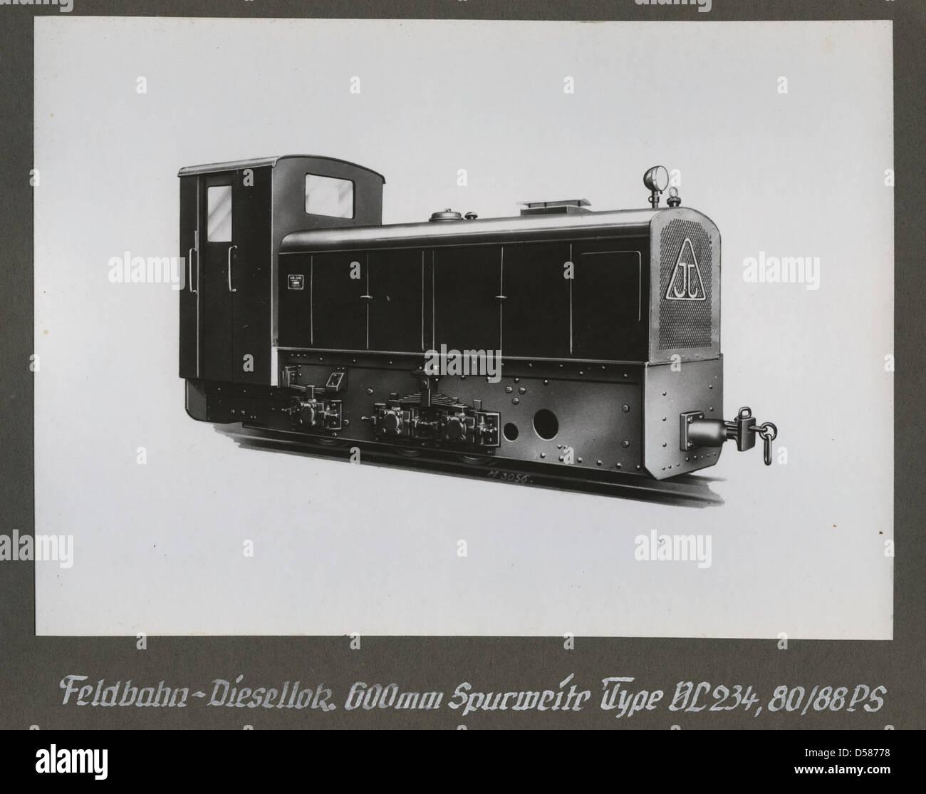 hight resolution of  feldbahn diesellokomotive type vl 234 80 88 ps
