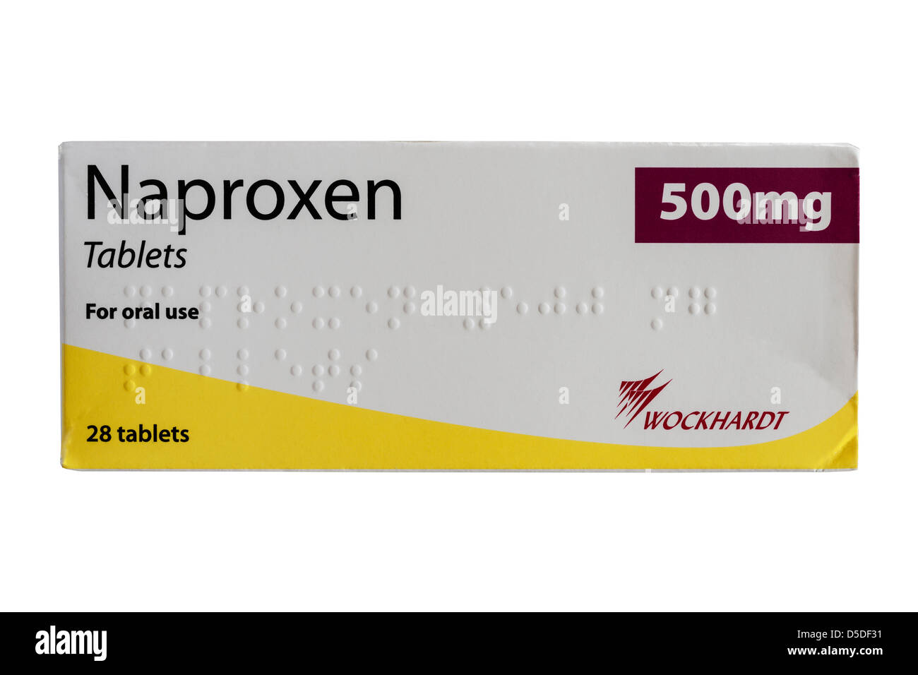 A box of Naproxen 500mg tablets for pain relief and ...