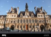 Unidentified People Paris Town Hall In Marais