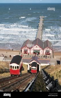 Victorian Funicular Railway And Pier Saltburn North
