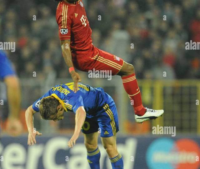 Munichs Xxxxx And Borisovs Xxxxx Vie For The Ball During The Champions League Group F Soccer
