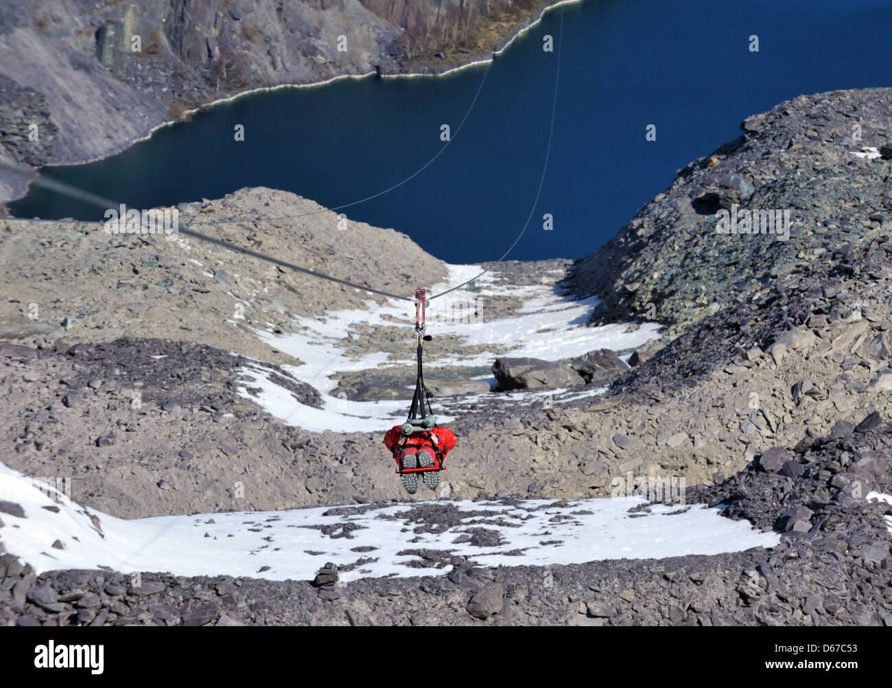 4 man zip wire wales directv deca adapter diagram world stock photos images alamy penrhyn quarry bethesda bangor gwynedd north the fastest