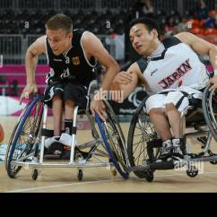 Wheelchair Fight Lounge Chairs For Living Room Thomas Boehme L Of Germany And Kazuyuki Tokairin Japan The Ball During Men S Group B Preliminary Basketball Match Between