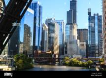 Chicago River And Towers Of West Loop Area Willis