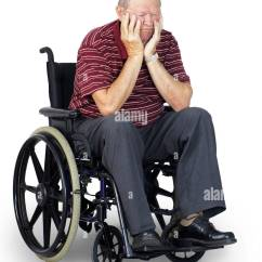 Wheelchair Man Ergonomic Chair For Si Joint Pain Depressed Or Sad Senior Old In Stock Photo 55747757