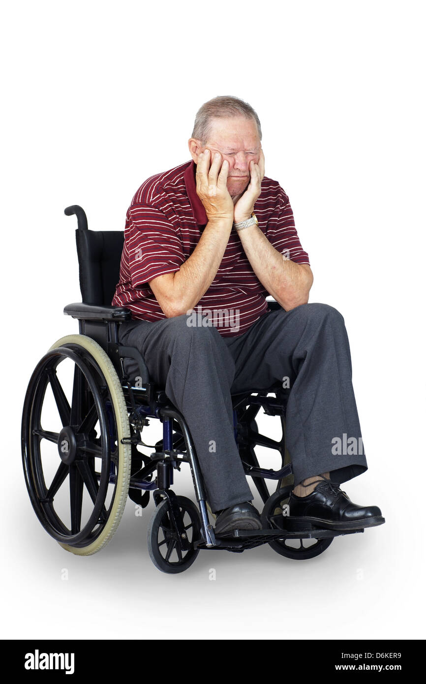 wheelchair man folding chair covers black depressed or sad senior old in stock photo 55747757
