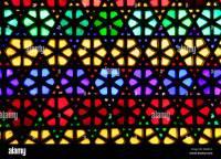 Beautiful geometric pattern of stained glass window Stock ...