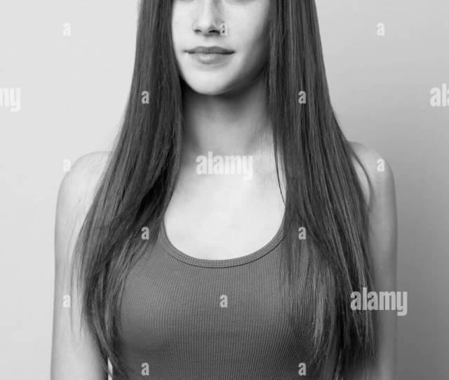 Expressive Monochrome Portrait Of Slender Teen Beauty