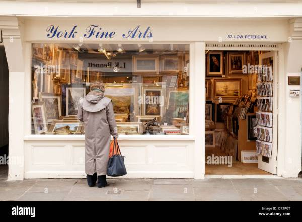 York Fine Arts Store Petergate Uk Stock Royalty Free
