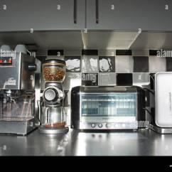 Modern Kitchen Appliances Mid Century Table Coffee Machine Bean Grinder