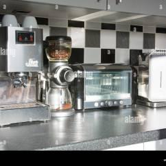 Modern Kitchen Appliances Prefab Island Stock Photos And