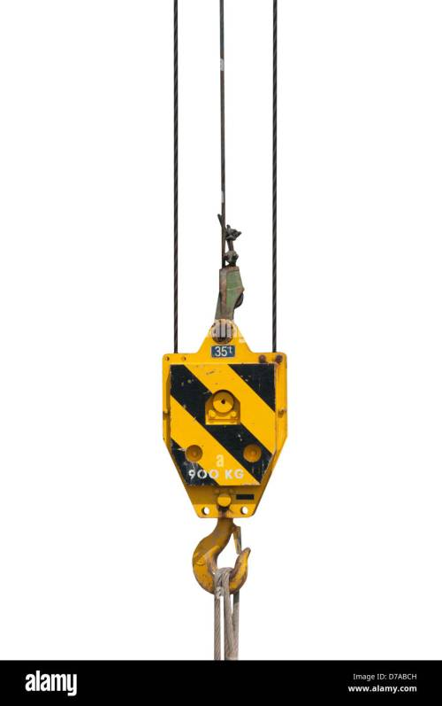 small resolution of crane block and hook