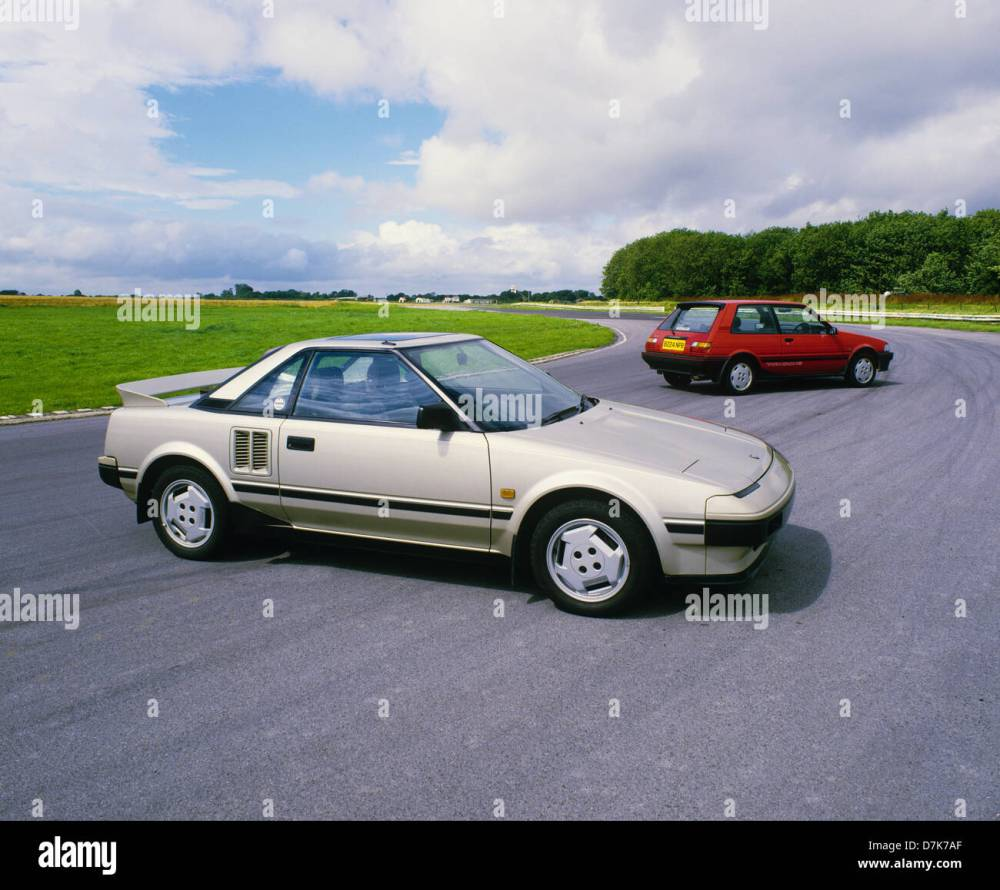 medium resolution of toyota mr2 mid engined sports car 1984 model year beige metallic stock image