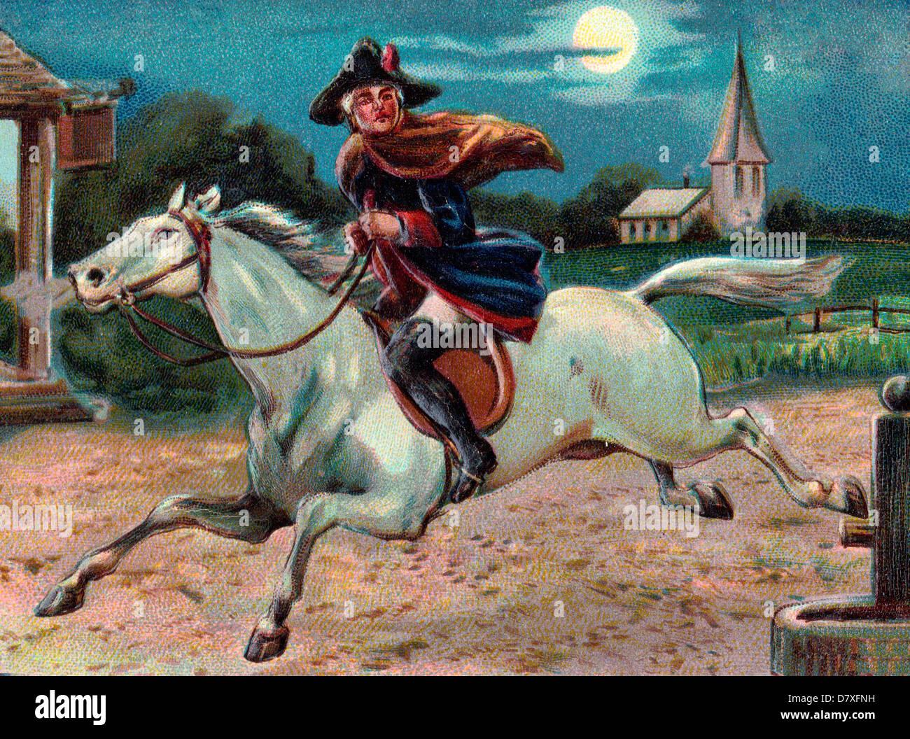 Paul Revere S Ride April 18 Stock Photo