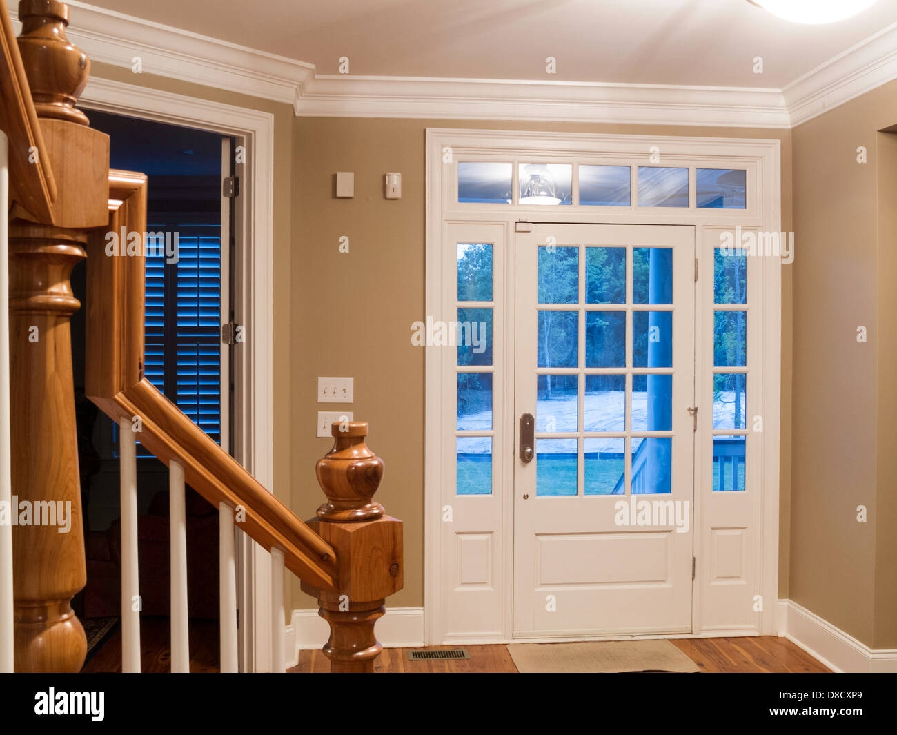 Showcase Home Front Door Entry Hall And Staircase Usa Stock   Home Front Staircase Design   Front Side Arch   Outer Wall   Outside Stair   Elevation Lighting   Wooden Stair
