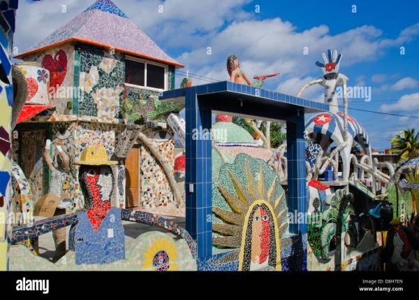 Havana Cuba Famous Ceramics Studio With Wild Art Of Jose