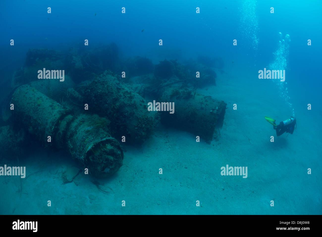a scuba diver explore