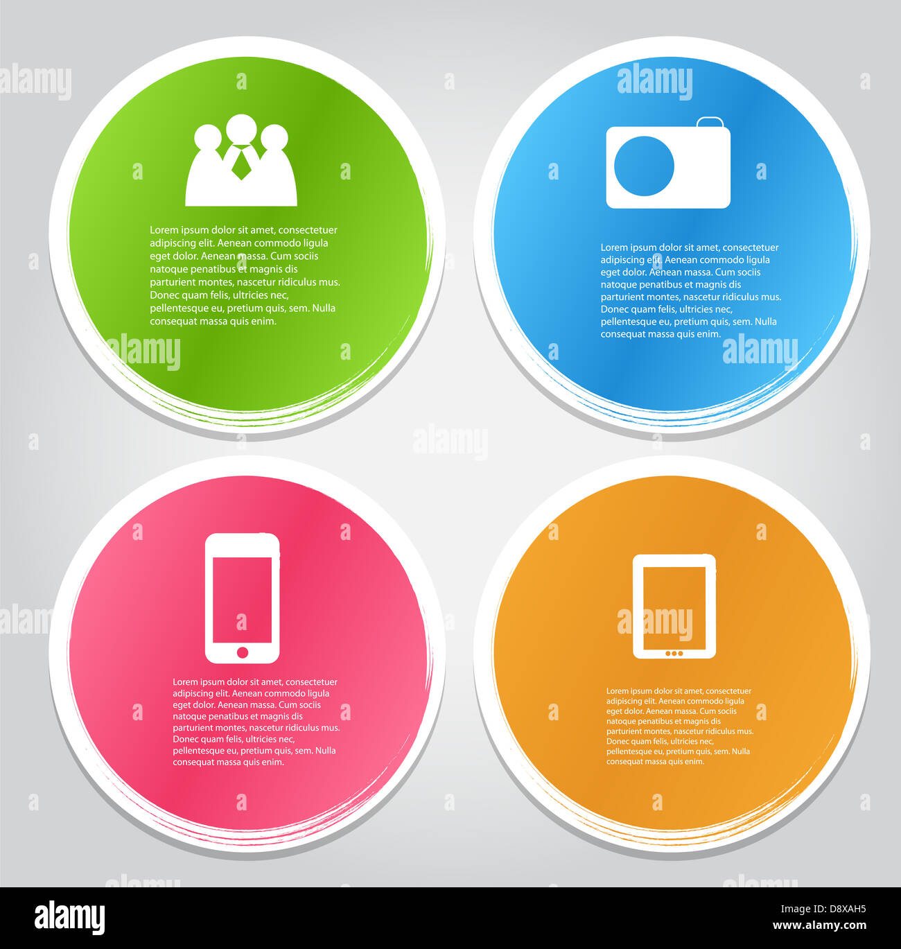 Infographic Template Vector Illustration - Stock Image