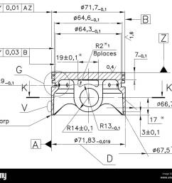 design drawings of nonexistent internal combustion engine piston clipping path stock image [ 1300 x 1146 Pixel ]