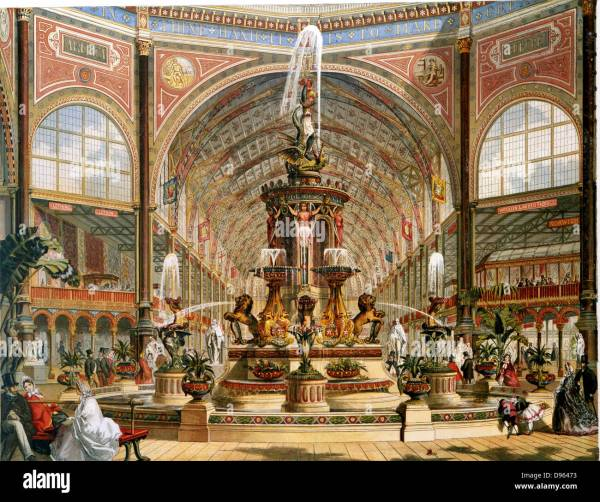 Interior Of Crystal Palace International Exhibition Stock Royalty Free