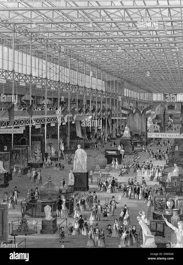 Great Exhibition Of 1851 Crystal Palace Hyde Park London Stock Royalty Free