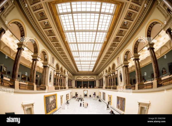 Main Hall With Skylight Ceiling Royal Museums Of Fine Arts In Stock Royalty Free