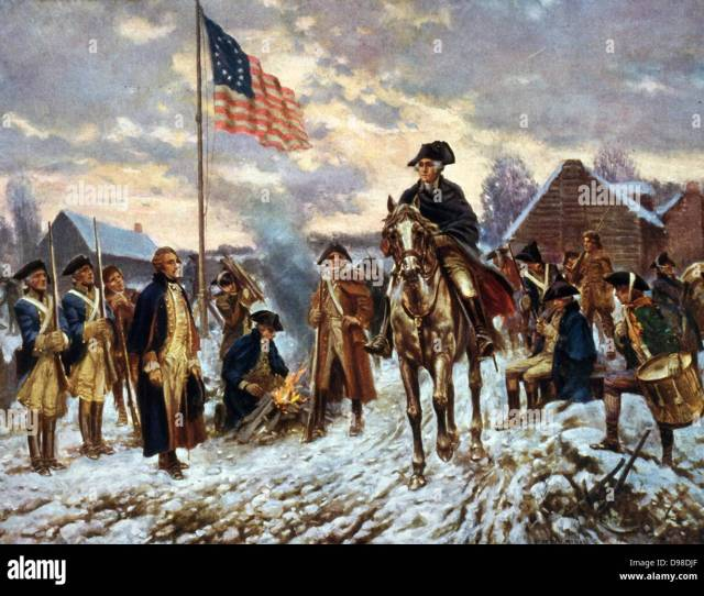 Revolutionary War   American War Of Independence Washington At Valley Forge Pennsylvania L December  The