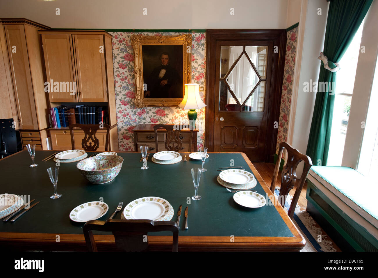 Traditional English Country Dining Room Stock Photos
