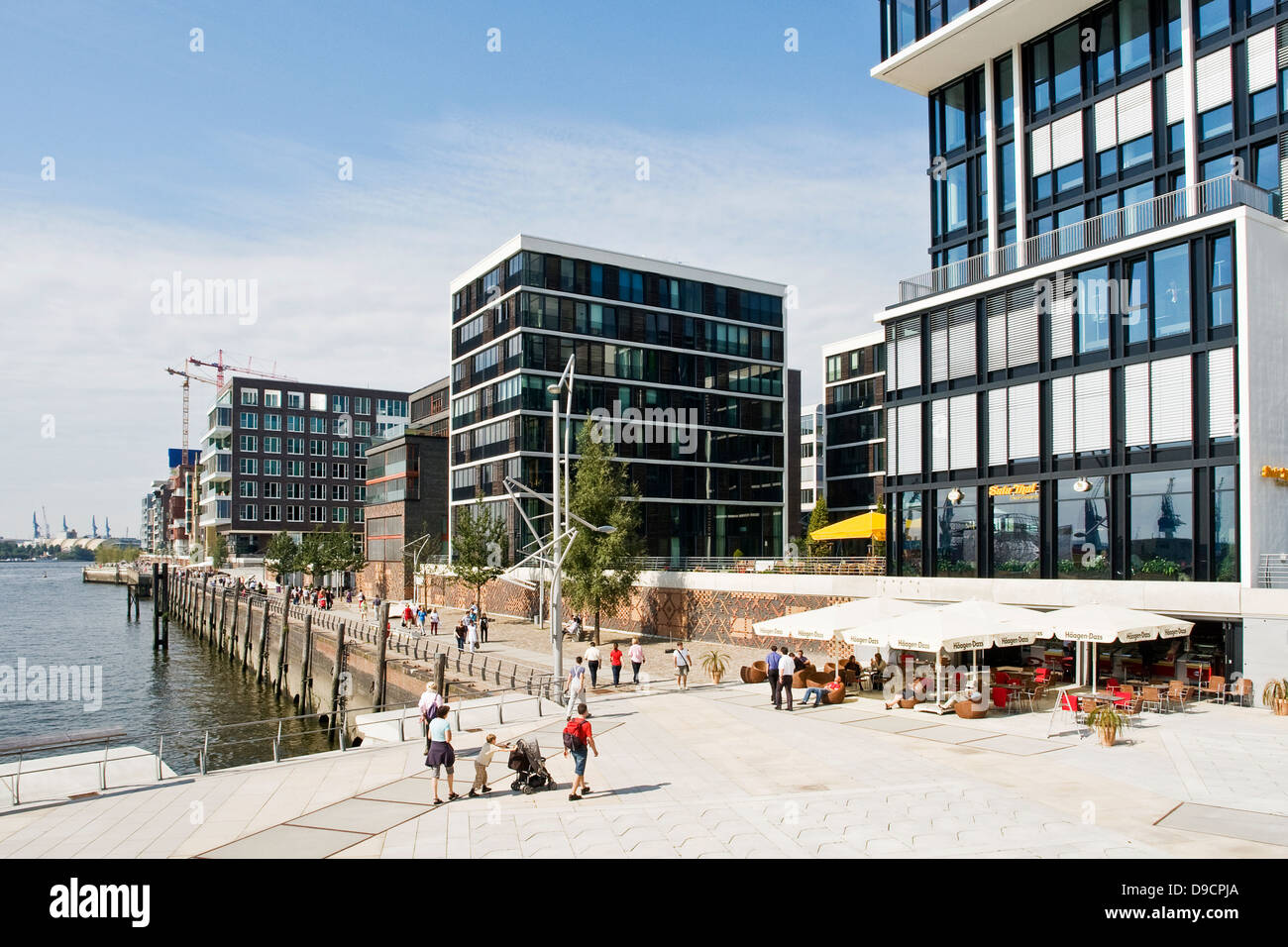 Moderne Architektur In Der Hafencity In Hamburg , Modern