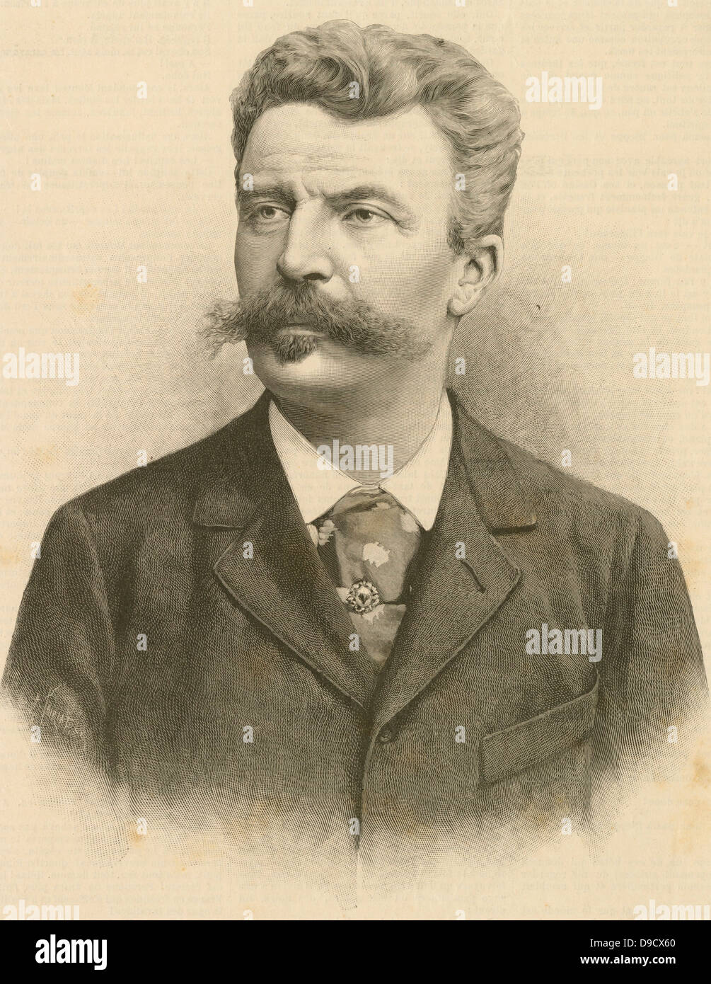 Photo De Guy De Maupassant : photo, maupassant, Henri, Albert), Maupassant, (1850-1893), French, Writer, Stock, Photo, Alamy