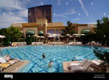 Pool Area Five-star Hotel Casino Wynn And Encore Las