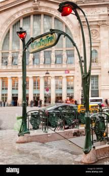 Art Nouveau Metro Entrance Paris