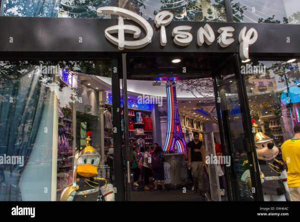 Paris France Front Disney Store Avenue Stock Royalty Free