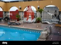 Man Lying Swimming Pool Stock &