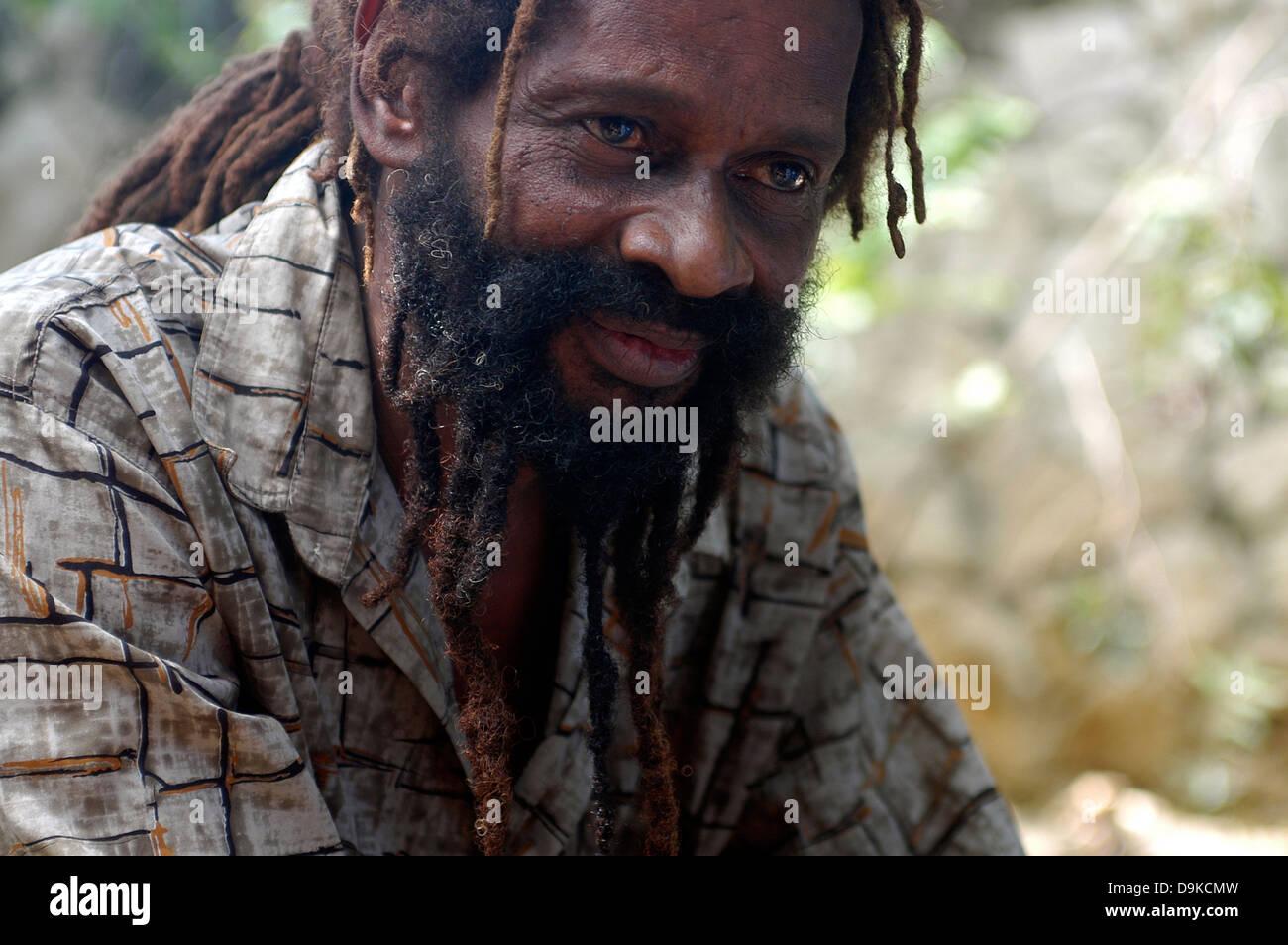 Rastafari African American Man With Dreadlocks At Negril