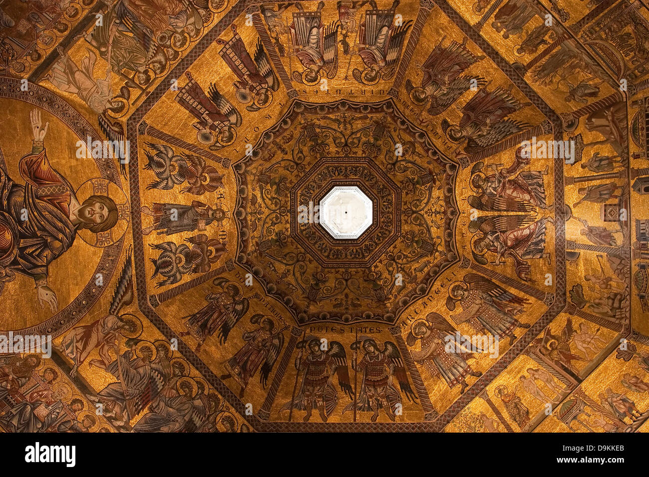 Baptistery Of San Giovanni Florence Stock Photos