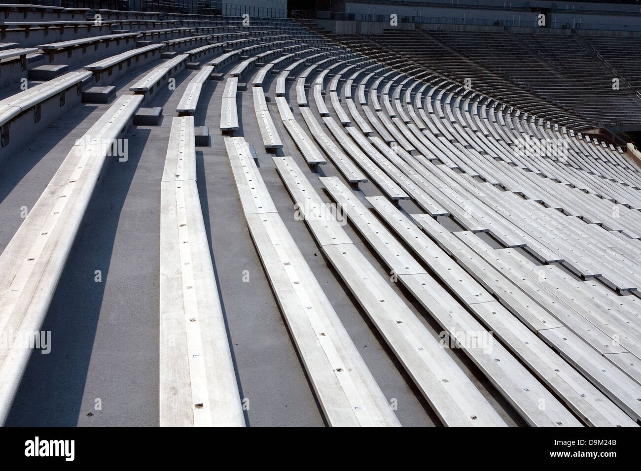 stadium chair for bleachers ikea clear chairs bleacher seats stock photos images alamy general view of rows empty seating at scott university virginia on