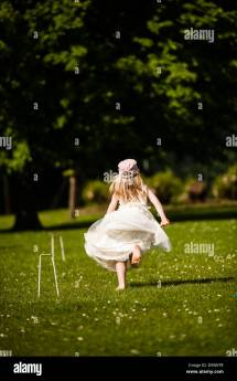 Barefoot Girl Running Away