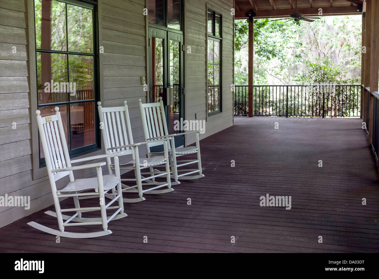 rocking chair resort mountain home arkansas grey material desk chairs stock photos and images